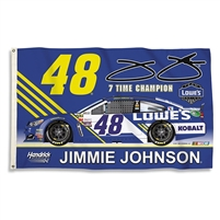 2017 Jimmie Johnson Lowes 3'x5' Double Sided Flag