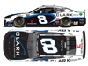 **PREORDER** 2020 Tyler Reddick #8 Clark Pipeline 1/24 HO Color Chrome
