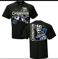 Chase Elliott #9 Nascar Champion Adult T-Shirt -Adult Large