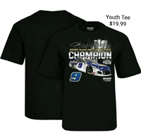 Chase Elliott #9 Nascar Cup Series Champion Youth T-Shirt - XSmall
