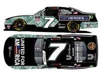 **PREORDER** 2021 Justin Allgaier #7 United for America Military 1/24 HO Color Chrome