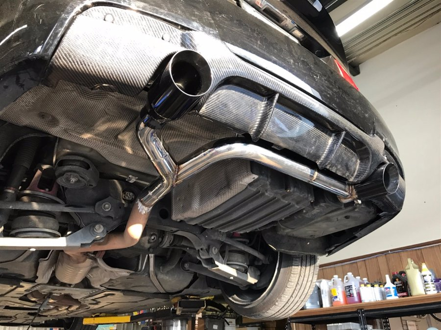bmw  custom dual exhaust