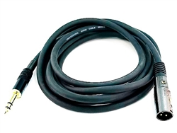 WholesaleCables.com 10ft Premier Series XLR Male to 1/4inch TRS Male 16AWG Cable
