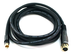 WholesaleCables.com 10ft Premier Series XLR Female to RCA Male 16AWG Cable 4786