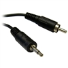WholesaleCables.com 10A1-07106 6ft 3.5mm Mono Male to RCA Male Cable Black
