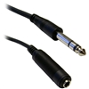 WholesaleCables.com 10A1-62206 6ft 1/4 inch Stereo Extension Cable TRS Balanced 1/4 inch Male to 1/4 inch Female