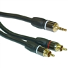 WholesaleCables.com 10A3-12150 50ft Premium 3.5mm Stereo Male to Dual RCA Male Cable