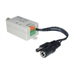 10B1-01210 Active Video Balun Female BNC Connector to Bare Wire Terminals - Camera Side