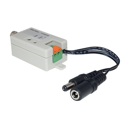 WholesaleCables.com 10B1-01210 Active Video Balun Female BNC Connector to Bare Wire Terminals - Camera Side