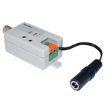 WholesaleCables.com 10B1-01310 Active Video Balun Female BNC Connector to Bare Wire Terminals Monitor/DVR Side