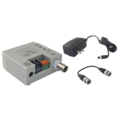 WholesaleCables.com 10B1-01330 Active Video Balun Female BNC Connector with BNC Male Barrel Connector Terminal Type Monitor Side