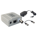 WholesaleCables.com 10B1-01340 Passive Video Balun, Female BNC Connector, Power on 3 Pairs, Monitor Side