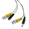 WholesaleCables.com 10B1-02125 25ft BNC Video Cable with DC Power Cable BNC Male Male to Female Power