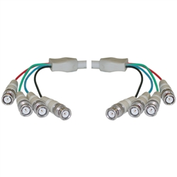 WholesaleCables.com 10B1-06125 25ft BNC x 4 Male to BNC x 4 Male Cable Double-Shielded