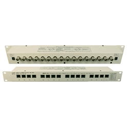 10B1-22240 16 Channel Rackmount Video Balun with RJ45 in (16x) and BNC out (16x) 18 Volts DC Input