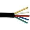 Mini RG59/U Cable, Black, 25/5 (25 AWG 5 Conductor), Solid Bare Copper, Spool, 250 foot