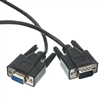 10D1-03203BK 3ft Serial Extension Cable Black DB9 Male to DB9 Female RS-232 UL rated 9 Conductor 1:1