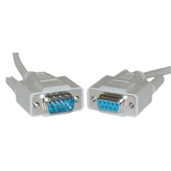 WholesaleCables.com 10D1-03215 15ft Serial Extension Cable DB9 Male to DB9 Female RS-232 UL rated 9 Conductor 1:1