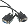 10D1-03225BK 25ft Black Serial Extension Cable, UL, DB9 Male to Female