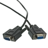 WholesaleCables.com 10D1-03406BK 6ft DB9 Female Serial Cable Black DB9 Female UL rated 9 Conductor 1:1