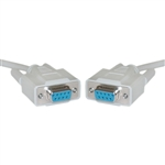 WholesaleCables.com 10D1-03410 10ft DB9 Female Serial Cable DB9 Female UL rated 9 Conductor 1:1