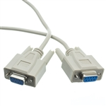 WholesaleCables.com 10D1-20410 10ft Null Modem Cable DB9 Female UL rated 8 Conductor