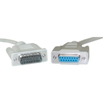 WholesaleCables.com 10D2-01206 6ft Apple/Mac Monitor Extension Cable DB15 Male to DB15 Female 15 Conductor