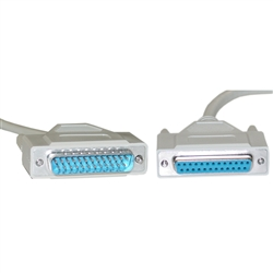 WholesaleCables.com 10D3-01225 25ft Serial Extension Cable DB25 Male to DB25 Female RS-232 UL rated 1:1