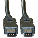 10E3-01106 6ft Firewire 400 6 Pin cable IEEE-1394a