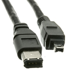 WholesaleCables.com 10E3-02103 3ft Firewire 400 6 Pin to 4 Pin cable IEEE-1394a