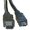 WholesaleCables.com 10E3-02106 6ft Firewire 400 6 Pin to 4 Pin cable IEEE-1394a