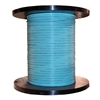 WholesaleCables.com 10F1-301NH 1000ft Bulk Zipcord Fiber Optic Cable Multimode Duplex 50/125 OM3 Aqua Riser Rated Spool