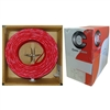 10F5-0271TH 1000ft Fire Alarm / Security Cable Red 18/2 18AWG 2 Conductor) Solid FPLR Pullbox