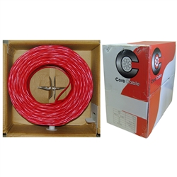 WholesaleCables.com 10F6-0271TH 1000ft Fire Alarm / Security Cable Red 16/2 (16 AWG 2 Conductor) Solid FPLR Pullbox