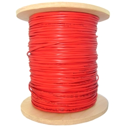 WholesaleCables.com 10F7-5271NH 1000ft 14/2 (14AWG 2C) Solid Shielded FPLR Fire Alarm / Security Cable Red Spool