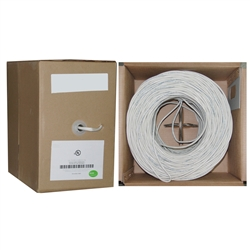 10G3-291SF 500ft Speaker Cable White Pure Copper CM / Inwall rated 14/2 (14 AWG 2 Conductor) 105 Strand / 0.16mm Pullbox