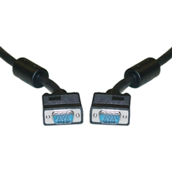 WholesaleCables.com 10H1-20106 6ft SVGA Cable with Ferrites Black HD15 Male Coaxial Construction Double Shielded