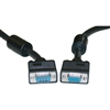 WholesaleCables.com 10H1-20206 6ft SVGA Extension Cable with Ferrites Black HD15 Male to HD15 Female