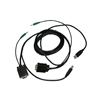 WholesaleCables.com 10H1-40110 10ft KVM Cable Black SVGA and USB A/B and 3.5mm audio