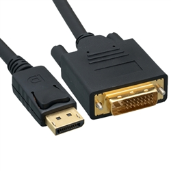 WholesaleCables.com 10H1-61110 10ft DisplayPort to DVI Video Cable DisplayPort Male to DVI Male