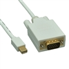WholesaleCables.com 10H1-62410 10ft Mini DisplayPort to VGA Video Cable Mini DisplayPort Male to VGA Male