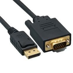 WholesaleCables.com 10H1-65106 6ft DisplayPort to VGA Video cable DisplayPort Male to VGA Male
