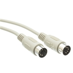 WholesaleCables.com 10I5-02106 6ft AT Keyboard Cable Din5 Male 5 Conductor Straight