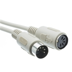 WholesaleCables.com 10I5-02215 15ft AT Keyboard Extension Cable Din5 Male to Din5 Female 5 Conductor Straight