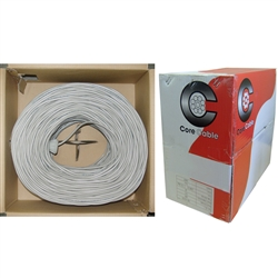 10K4-0421SH 1000ft Security/Alarm Wire Gray 22/4 (22AWG 4 Conductor) Stranded CM / Inwall rated Pullbox