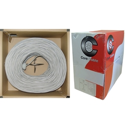 10K4-5421SH 1000ft Shielded Security/Alarm Wire Gray 22/4 (22AWG 4 Conductor) Stranded CM / Inwall rated Pullbox