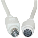 WholesaleCables.com 10M3-04206 6ft Apple Serial extension cable MiniDin8 Male to MiniDin8 Female 8 Conductors
