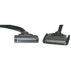 WholesaleCables.com 10N3-01106 6ft SCSI Cable VHDCI 68 (0.8mm) Male to HPDB68 (Half Pitch DB68) Male Offset Orientation
