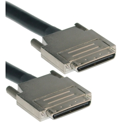 WholesaleCables.com 10N3-14106 6ft SCSI Cable VHDCI 68 (0.8mm) Male Offset Orientation