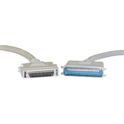 WholesaleCables.com 10P1-0111H 1.5ft SCSI II cable HPDB50 (Half Pitch DB50) Male to Centronics 50 (CN50) Male 25 Twisted Pairs